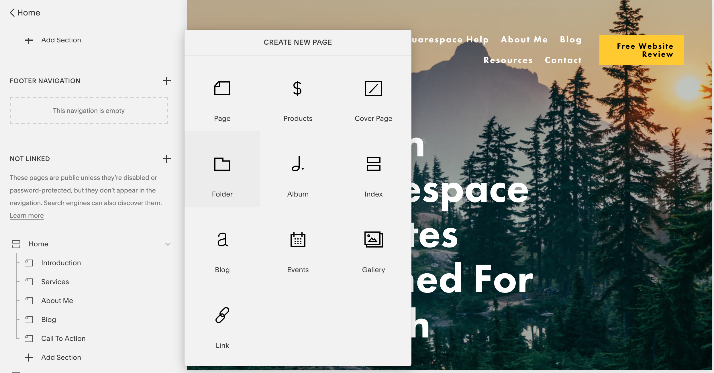 Squarespace drag and drop builder