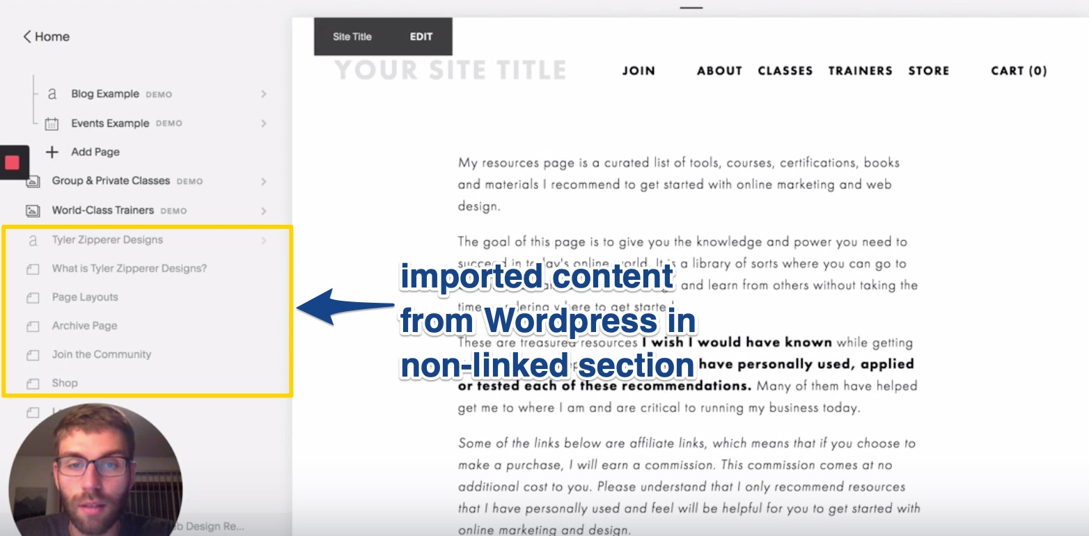 Imported Wordpress content in non linked section of Squarespace.jpg