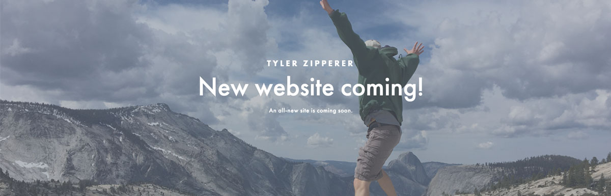 An example of my personal under construction page built on squarespace