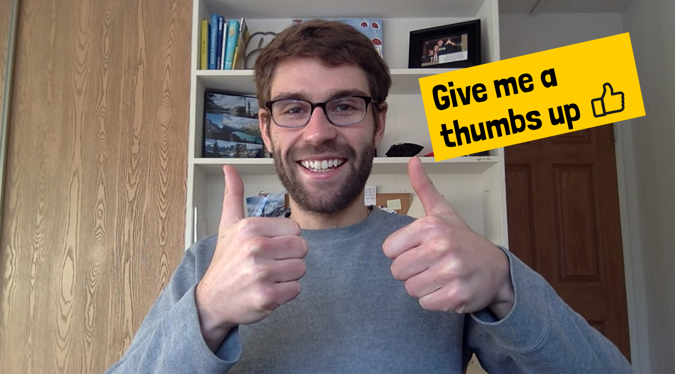 Me giving a thumbs up after reading this post