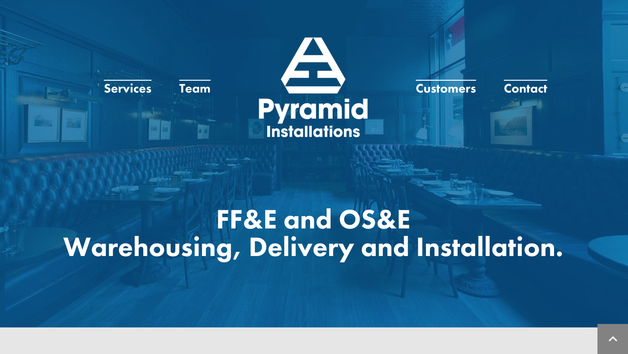 Pyramid Installations One Page Industrial Scrolling Website