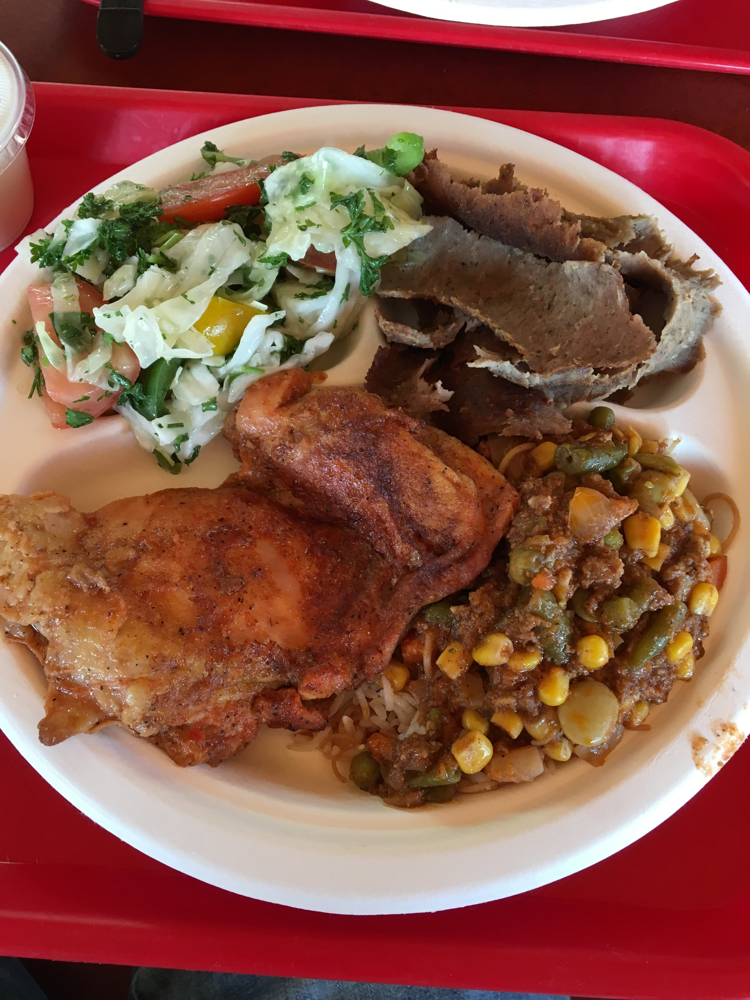 A plate full of goodness from Zakia Deli