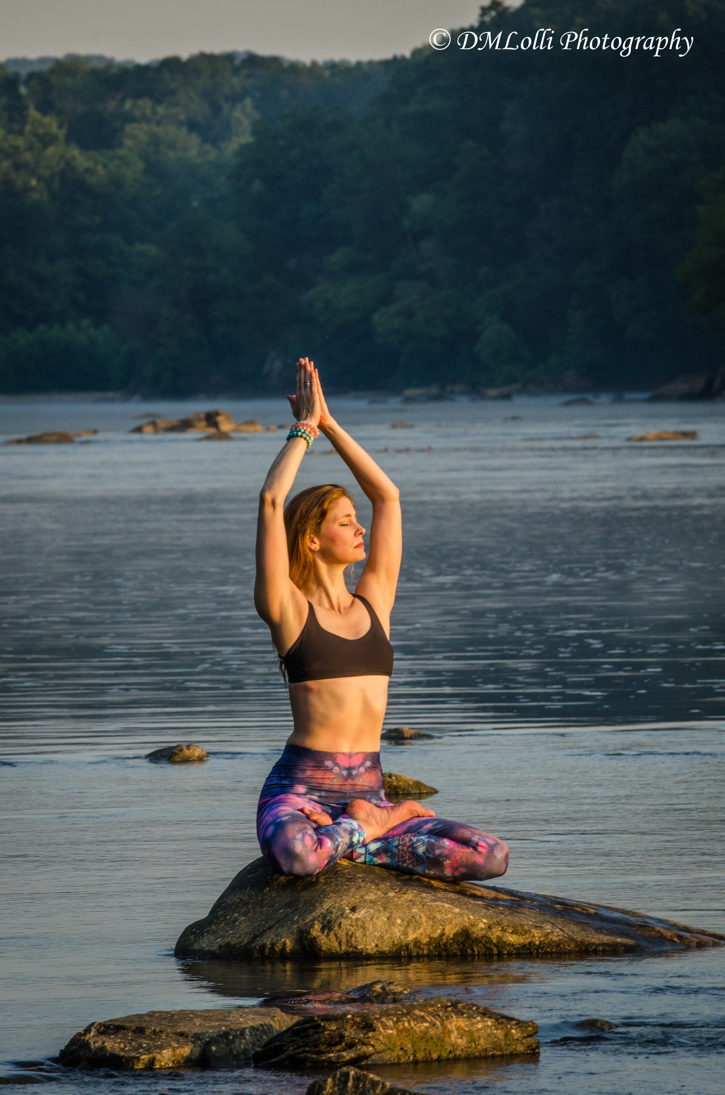 Parry Dale, Vinyasa teacher at Easy Day Yoga in Ashburn, Va., practicing in nature.