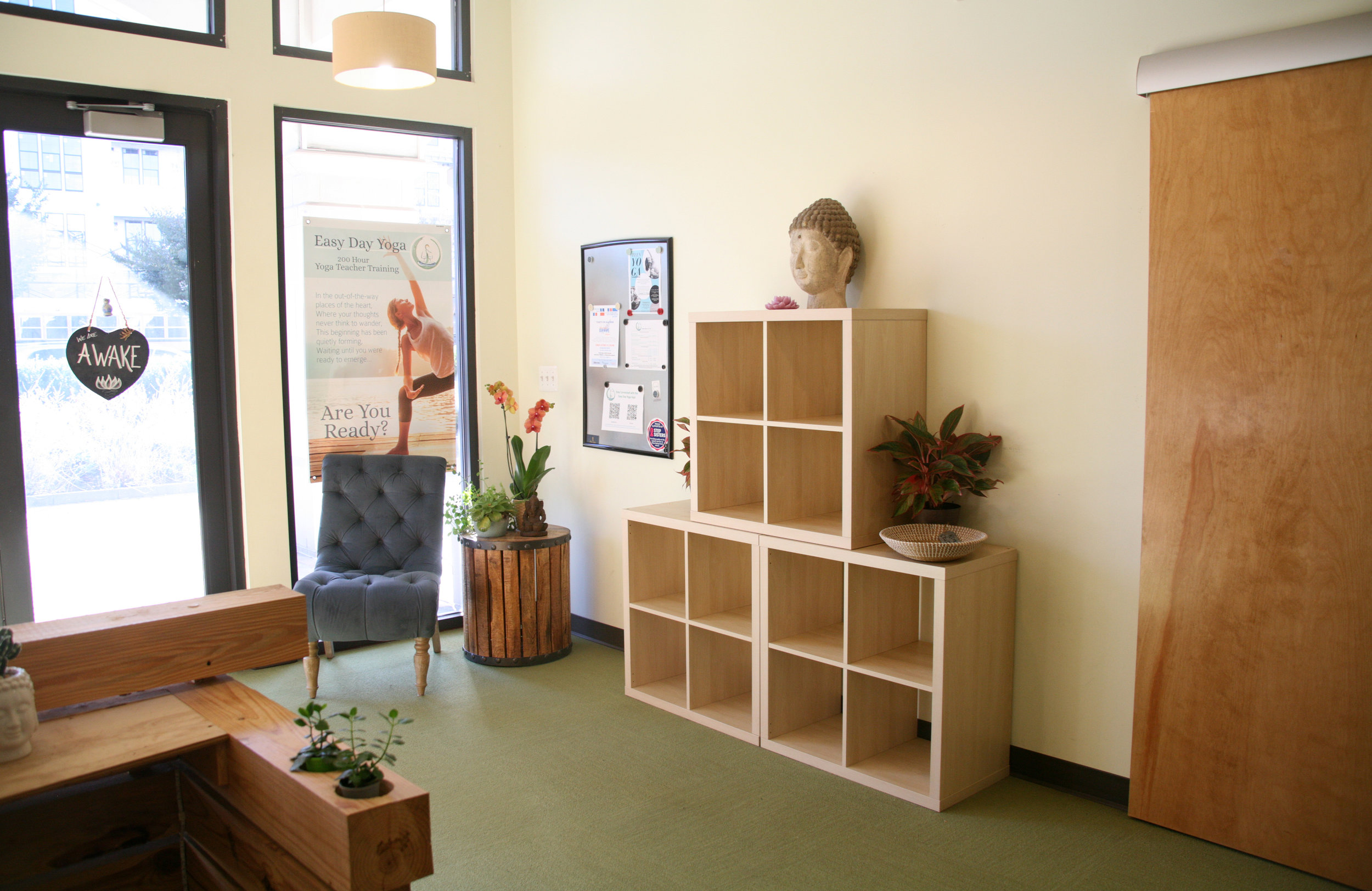 Cubbies for you to store your personal belongings.