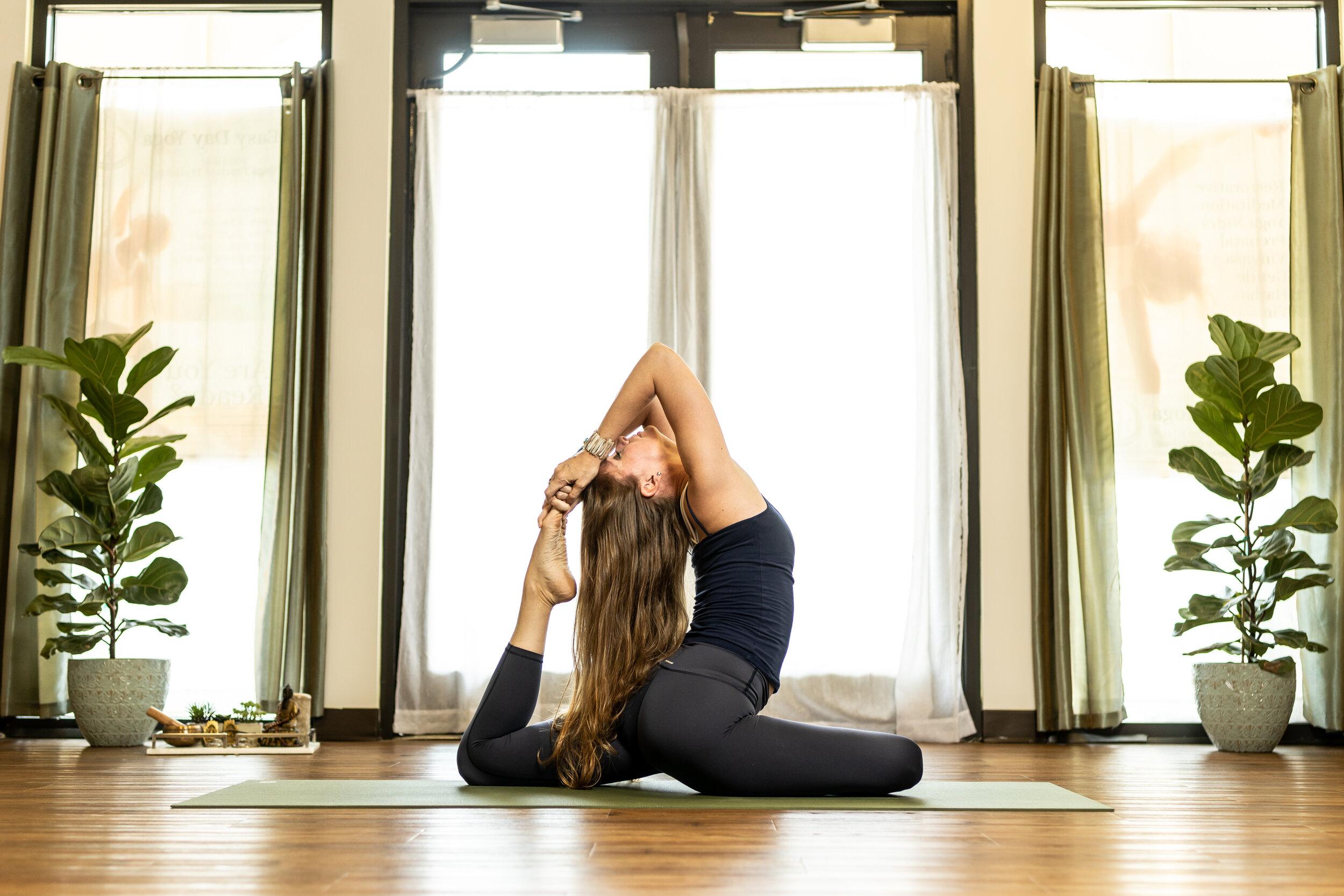 Parry Dale, Vinyasa teacher at Easy Day Yoga in Ashburn, Va.