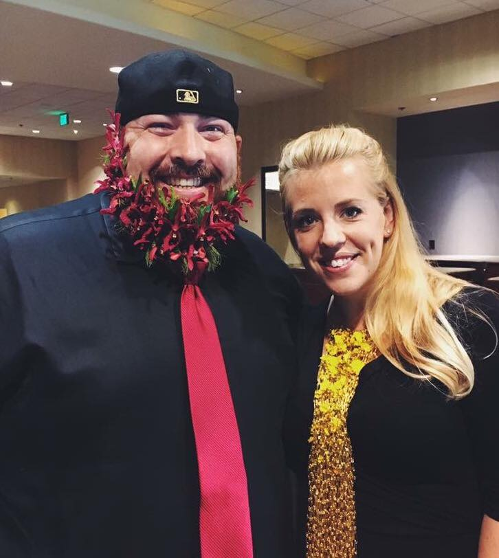 Ace, his amazing floral beard and Stacey Carlton AIFD EMC