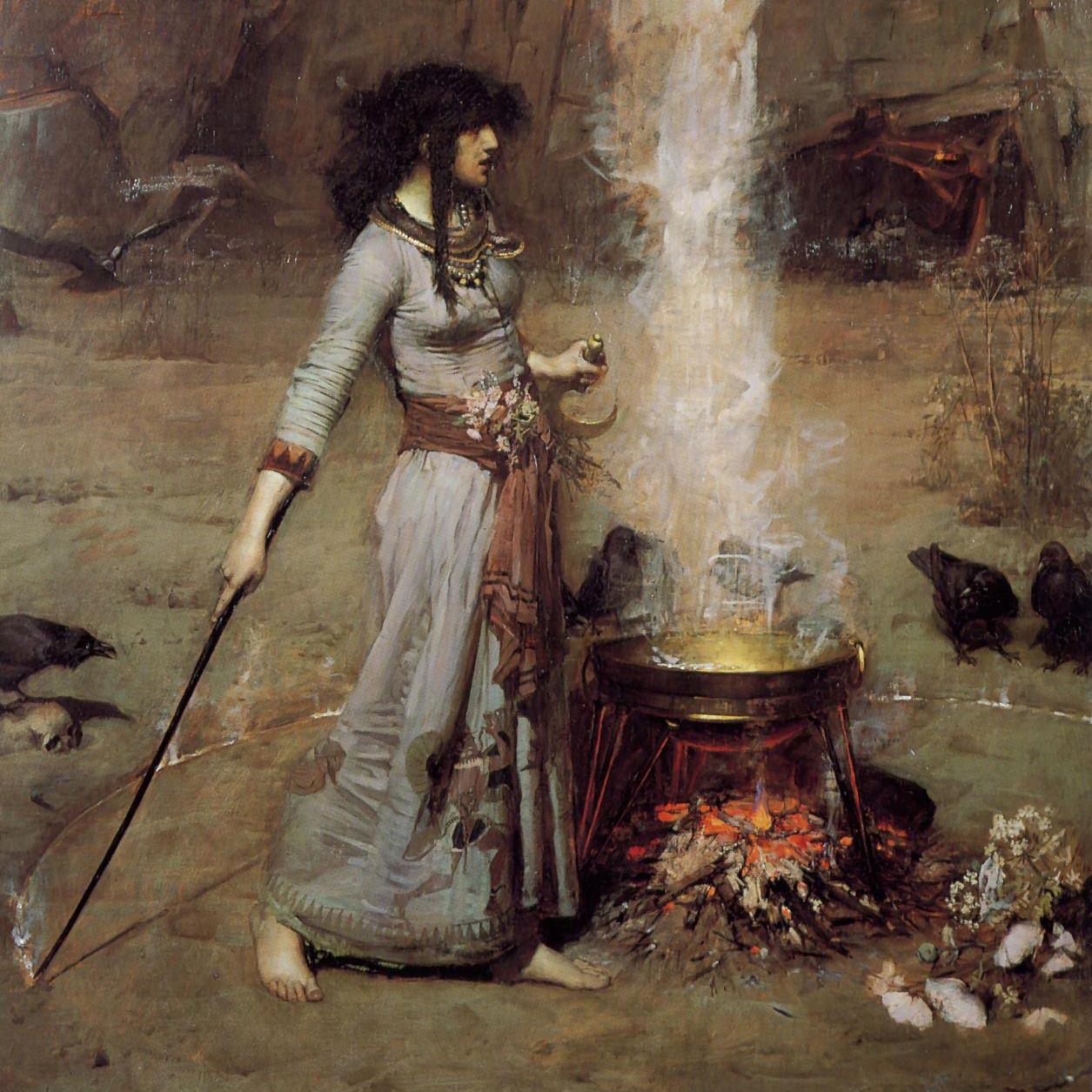Magic Circle  by John William Waterhouse, 1886.