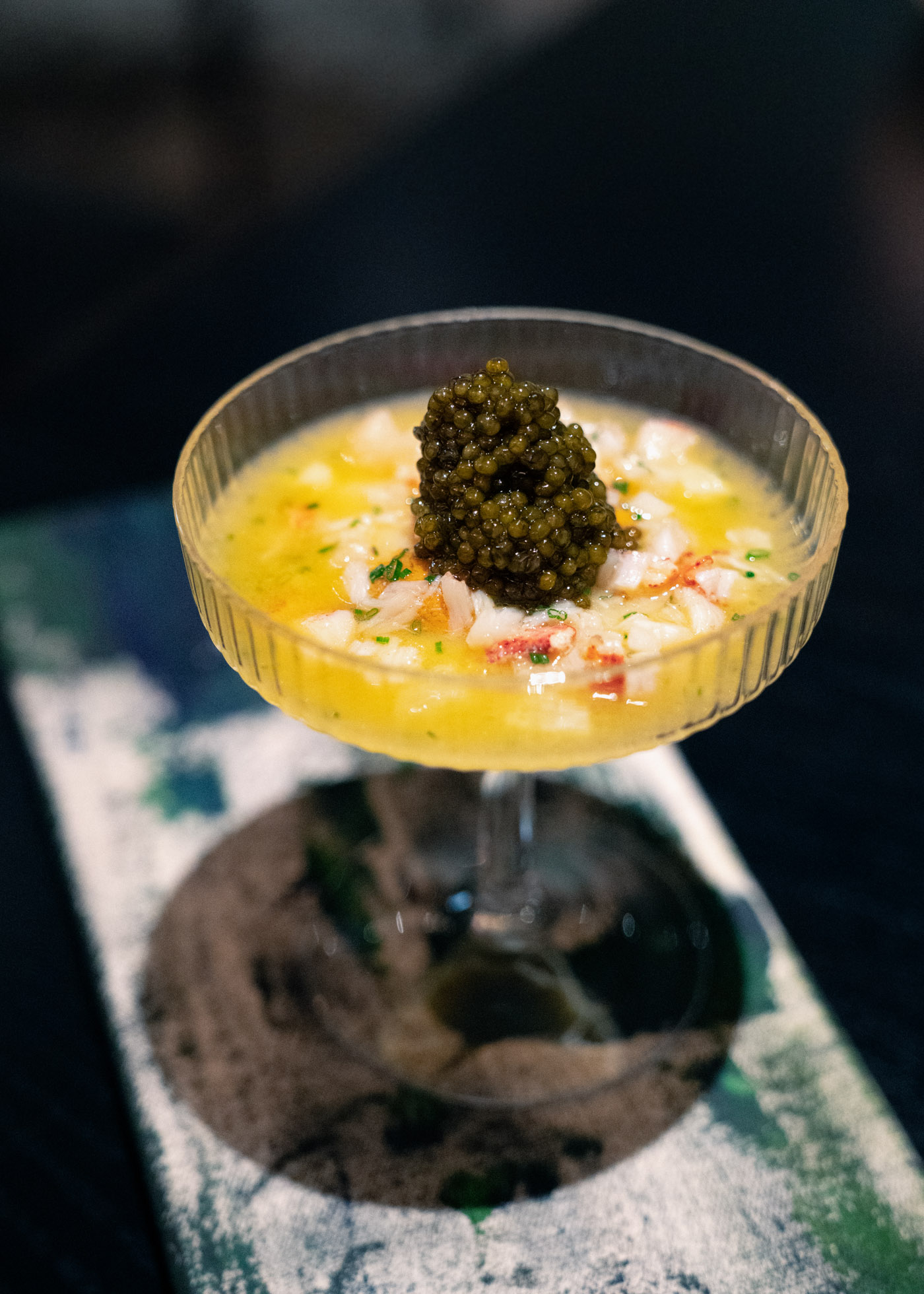 Caviar, Golden Osetra, Grilled Lobster Butter with Creamed Sunchokes