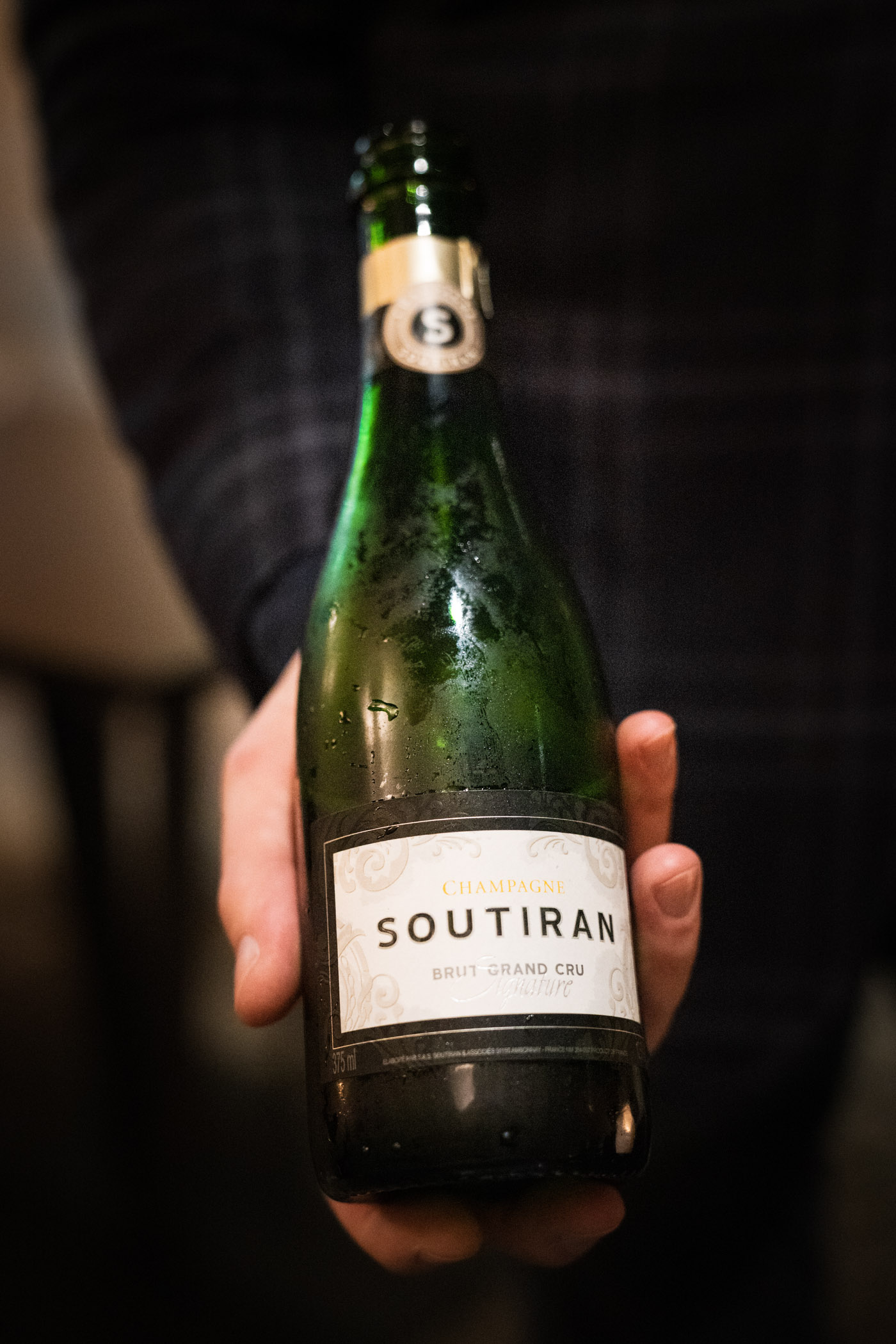Avery offers Champagne pairing to accompany the tasting menu