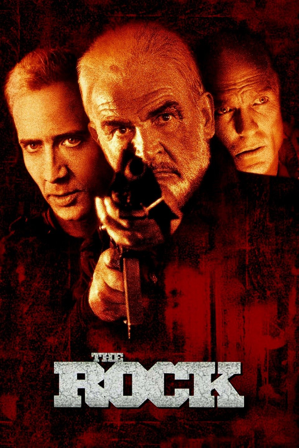 — THE ROCK   FBI chemical warfare expert Stanley Goodspeed (Nicolas Cage) is sent on an urgent mission with a former British spy, John Patrick Mason (Sean Connery), to stop Gen. Francis X. Hummel (Ed Harris) from launching chemical weapons on Alcatraz Island into San Francisco.