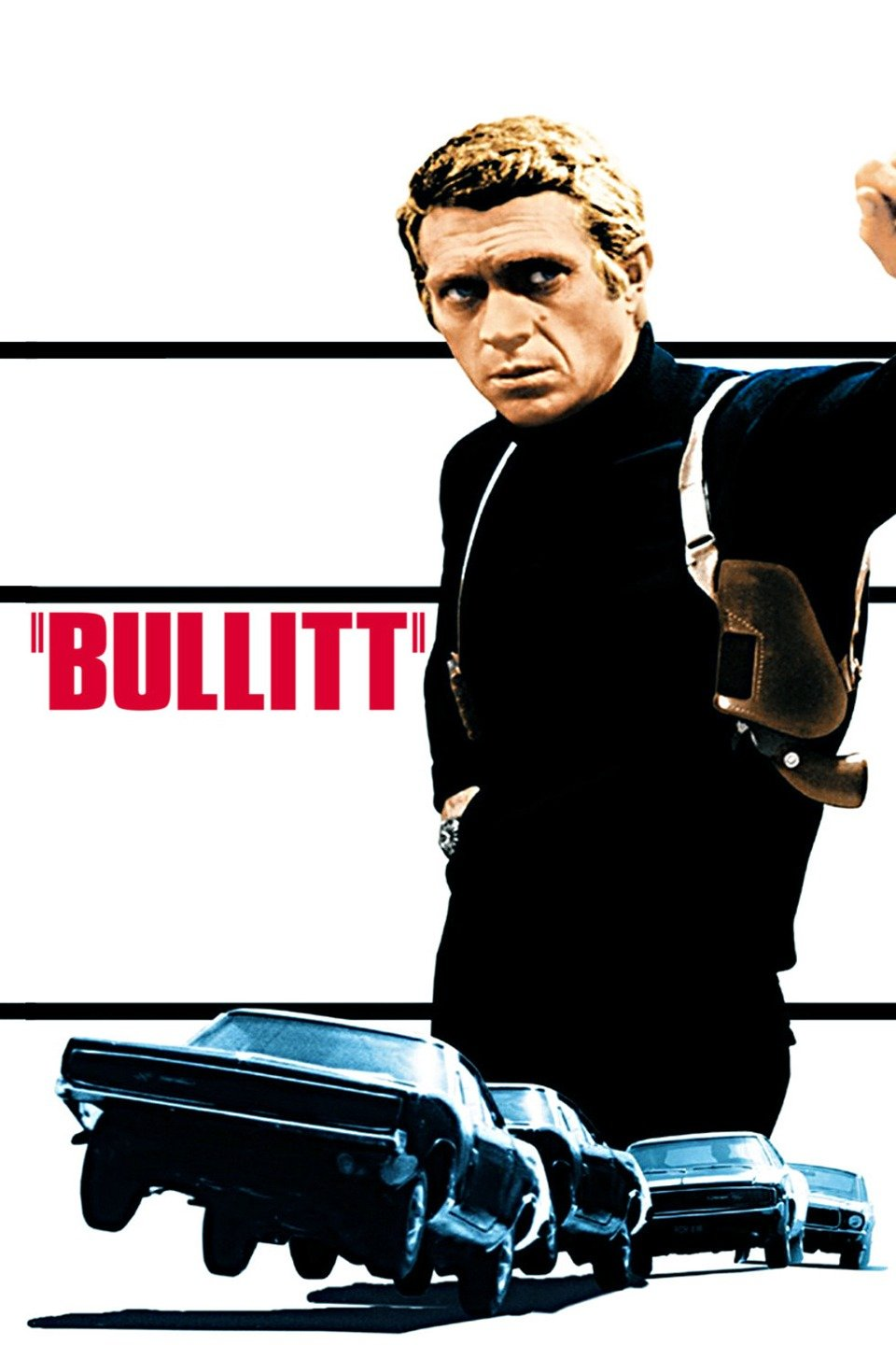 — BULLITT   Senator Walter Chalmers (Robert Vaughn) is aiming to take down mob boss Pete Ross (Vic Tayback) with the help of testimony from the criminal's hothead brother Johnny (Pat Renella), who is in protective custody in San Francisco under the watch of police lieutenant Frank Bullitt (Steve McQueen). When a pair of mob hitmen enter the scene, Bullitt follows their trail through a maze of complications and double-crosses. This thriller includes one of the most famous car chases ever filmed.