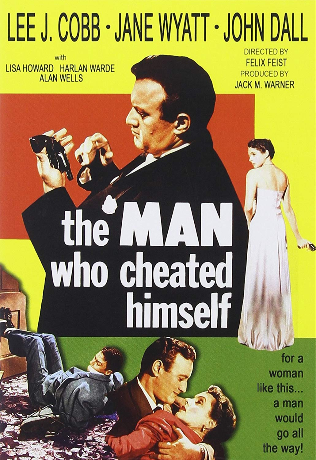 — THE MAN WHO CHEATED HIMSELF   Wealthy socialite Lois Frazer, divorcing her fortune-hunter husband, Howard, finds a gun he's bought. She kills him with it in front of the new man in her life, Lt. Ed Cullen, a homicide detective with the San Francisco police. The twice-married Lois manages to manipulate Cullen into disposing of the murder weapon and moving the body. Cullen ends up investigating the case, assisted by kid brother Andy, who is new to the homicide division and delays his honeymoon to keep working on his first big case.