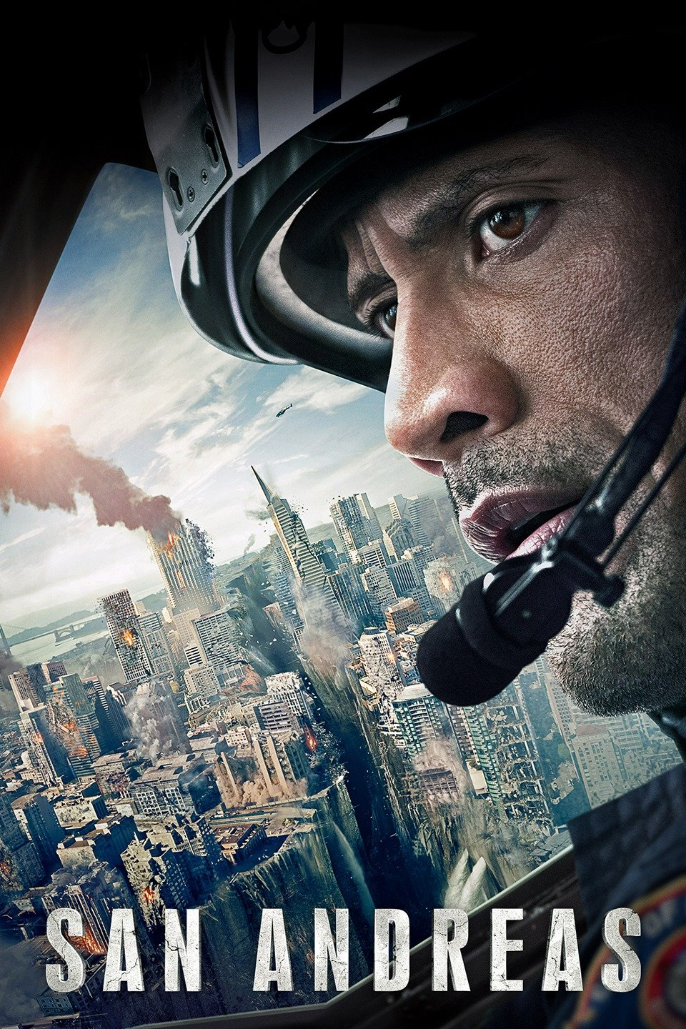 — SAN ANDREAS   A seemingly ideal day turns disastrous when California's notorious San Andreas fault triggers a devastating, magnitude 9 earthquake, the largest in recorded history. As the Earth cracks open and buildings start to crumble, Ray Gaines (Dwayne Johnson), an LAFD search-and-rescue helicopter pilot, must navigate the destruction from Los Angeles to San Francisco to bring his estranged wife (Carla Gugino) and their only daughter (Alexandra Daddario) to safety.