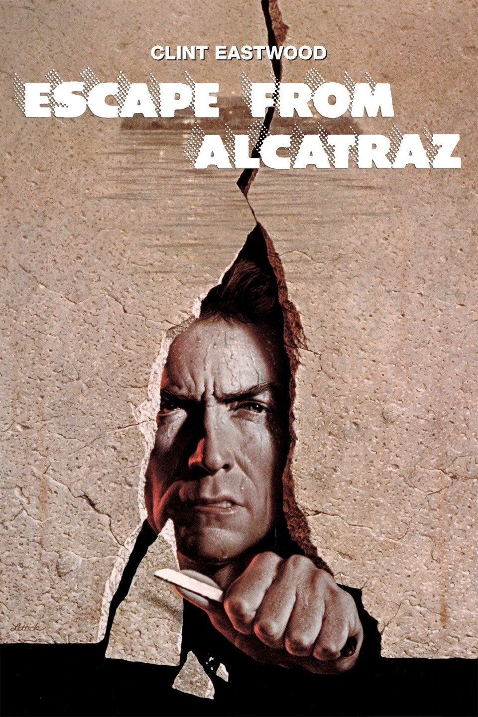 — ESCAPE FROM ALCATRAZ   Frank Morris (Clint Eastwood), a hardened con with a history of prison breaks, is sent to serve the rest of his life sentence at Alcatraz -- America's most infamously brutal and inescapable maximum security prison. Morris quickly realizes the prison's dehumanizing effects and clashes with its cruel warden (Patrick McGoohan). Fed up with life at Alcatraz, Morris and two convict brothers (Fred Ward, Jack Thibeau) meticulously plan the unthinkable: an escape from the island.
