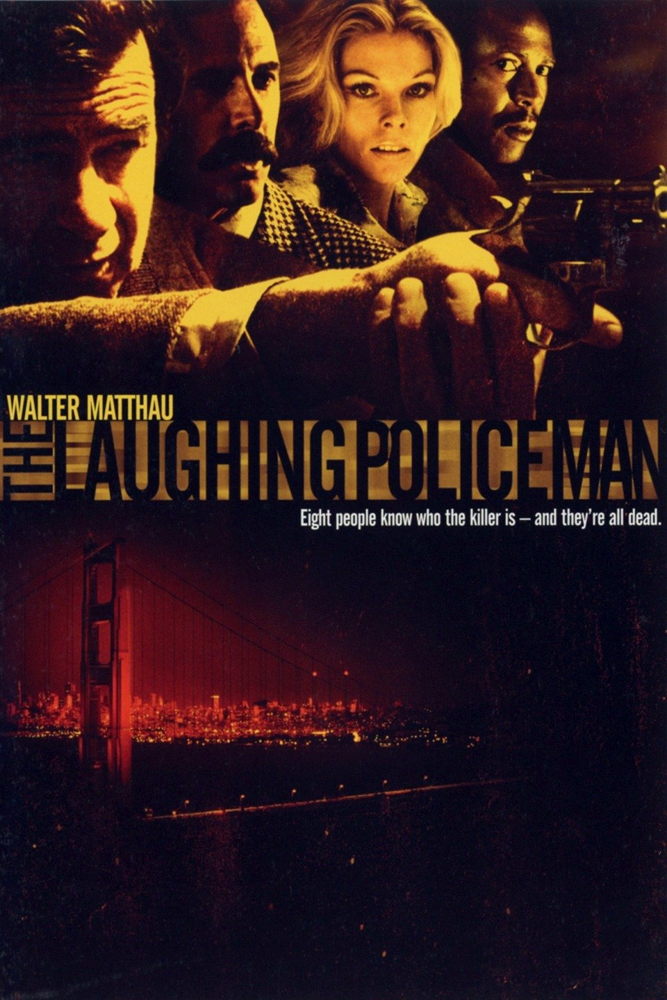 — THE LAUGHING POLICEMAN   When a gunman opens fire on a crowded city bus in San Francisco, Detective Dave Evans (Anthony Costello) is killed, along with the man he'd been following in relation to a murder. Evans' partner, Sgt. Jake Martin (Walter Matthau), becomes obsessed with solving the case -- but all the witnesses are dead. Martin enlists a new partner, Leo Larsen (Bruce Dern), to help with the frustrating case, and when the pair is told to drop the investigation, they disobey the orders and close in on the killer.
