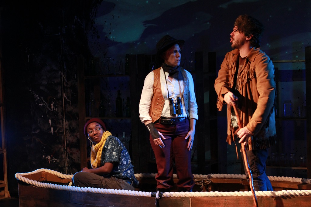 Charlee Cotton as Carl Bodmer, Heather Riordan as Prince Max, Scot West as the Male Actor