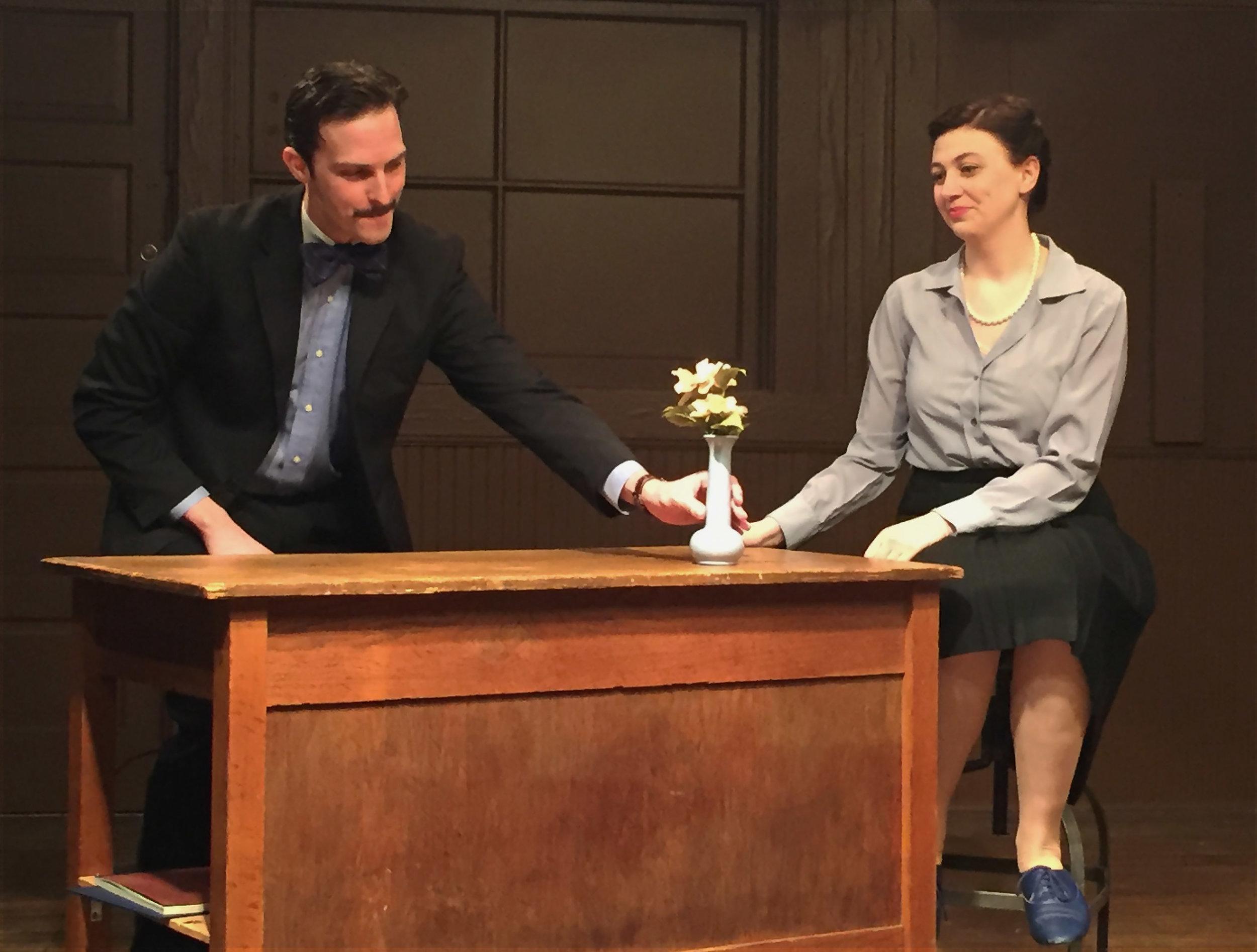 Freddie Beckley as Donald Caspar, Lindsey Dorcus as Rosalind Franklin
