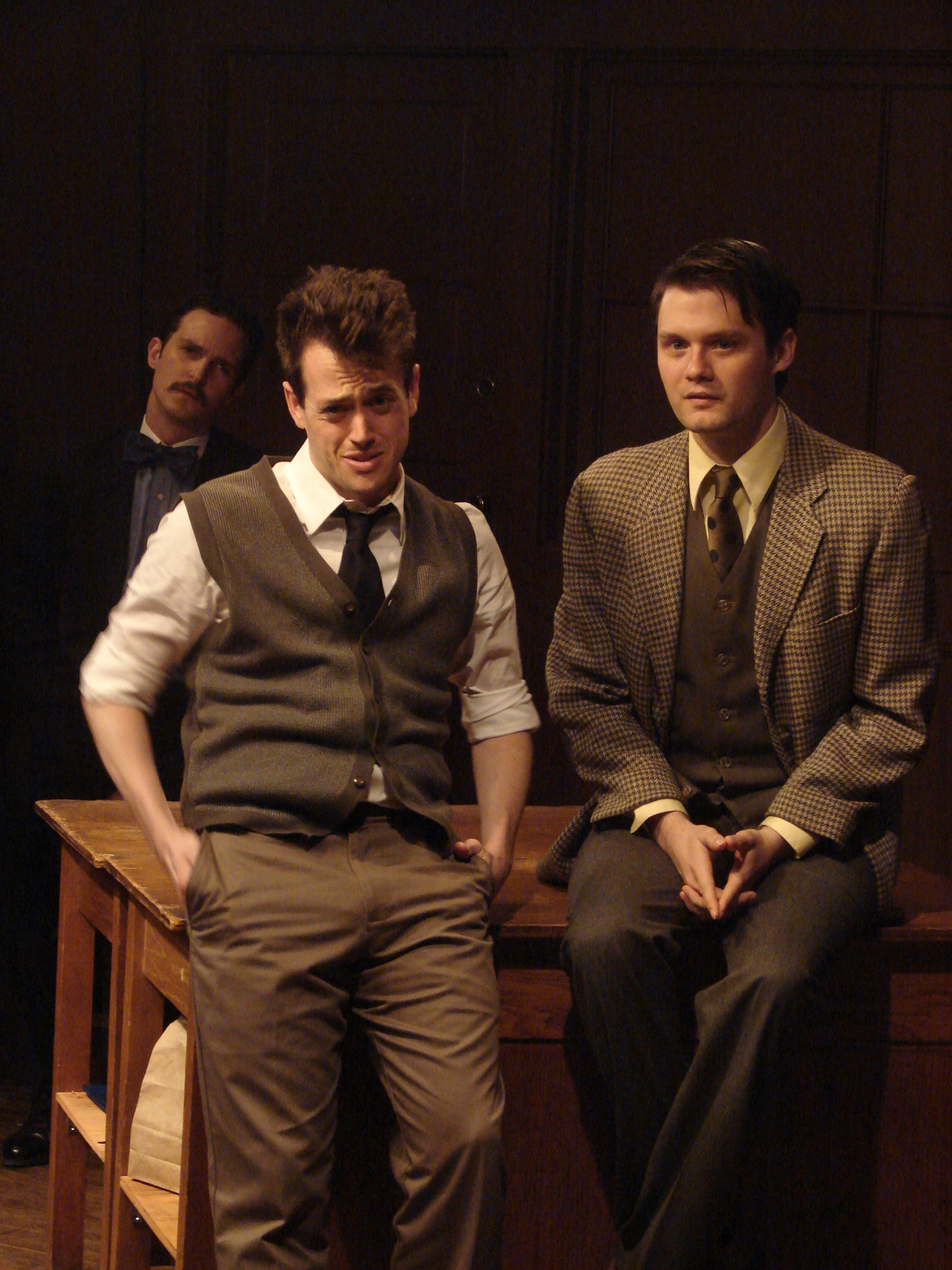 Andrew Lund as James Watson, Conor Burke as Francis Crick