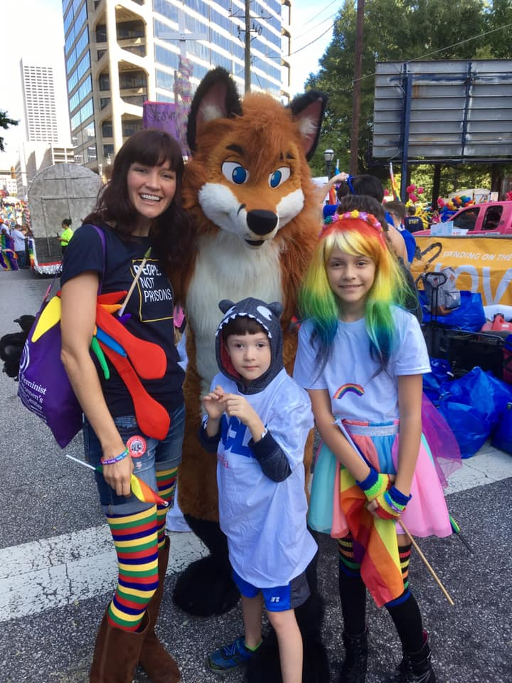 Atlanta PRIDE with the kids in October 2018. Photo by Chris Ryan.