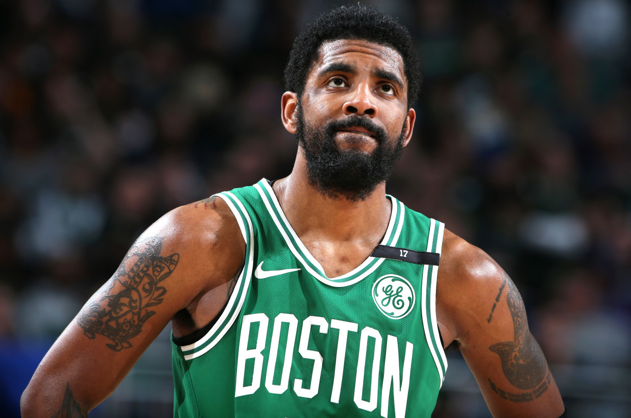IMAGE:  NBAE/Getty Images - Kyrie Irving could be the biggest loser heading into free agency along with the New York Knicks now that Kevin Durant tore his Achilles.