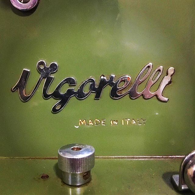 I love working on old machines and sometimes I need other, older machines to help finish them. This is the newest addition to the studio. #oldsewingmachine #vigorelli #italianmade
