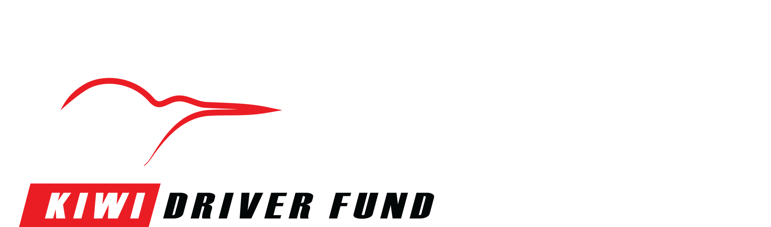 Kiwi Driver Fund - White and Red on Black Vector.png