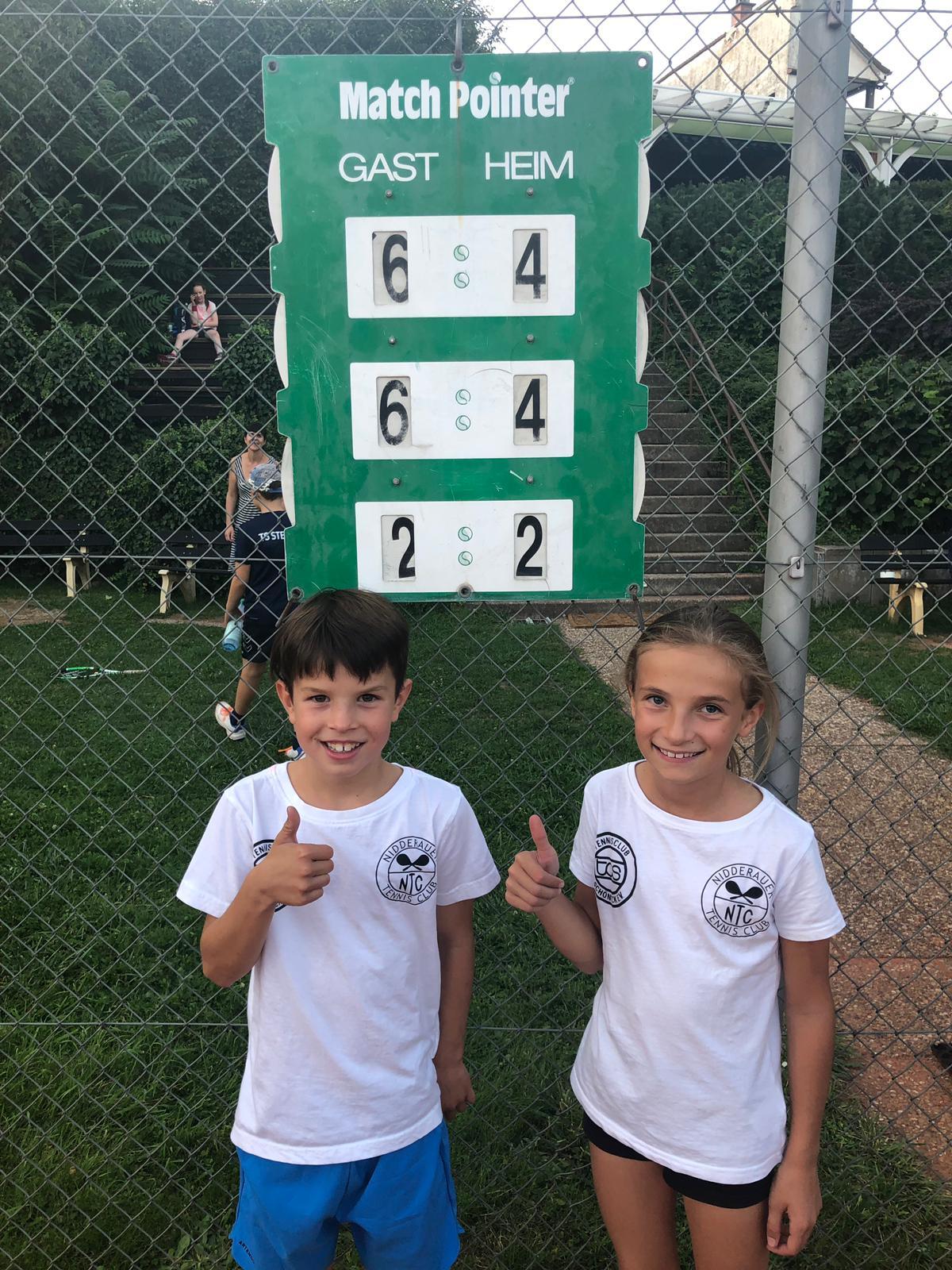 Jona und Leni aus unserer U10 Mannschaft.