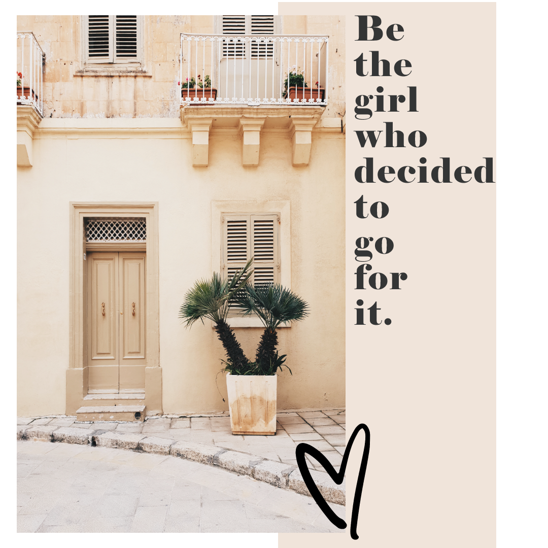 Be the girl who decided to go for it - inspiration - mental health - mental health awareness - soulpreneur - quote by www.herprettybravesoul.com
