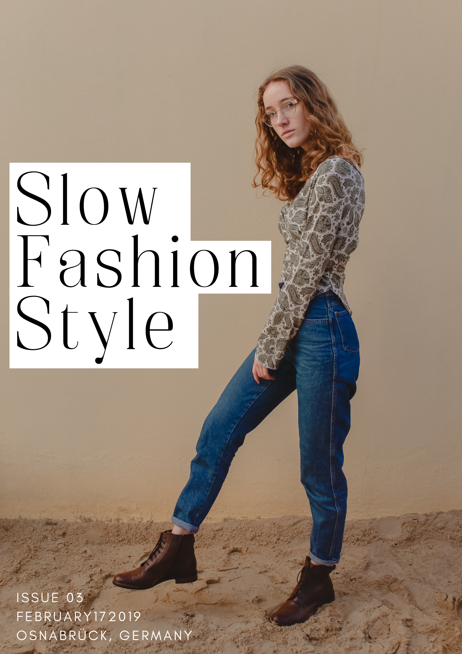 Slow Fashion Style by @lena.naeht photograhed by www.herprettybravesoul.com, slow fashion, jeans, yellow background, fashion, editorial