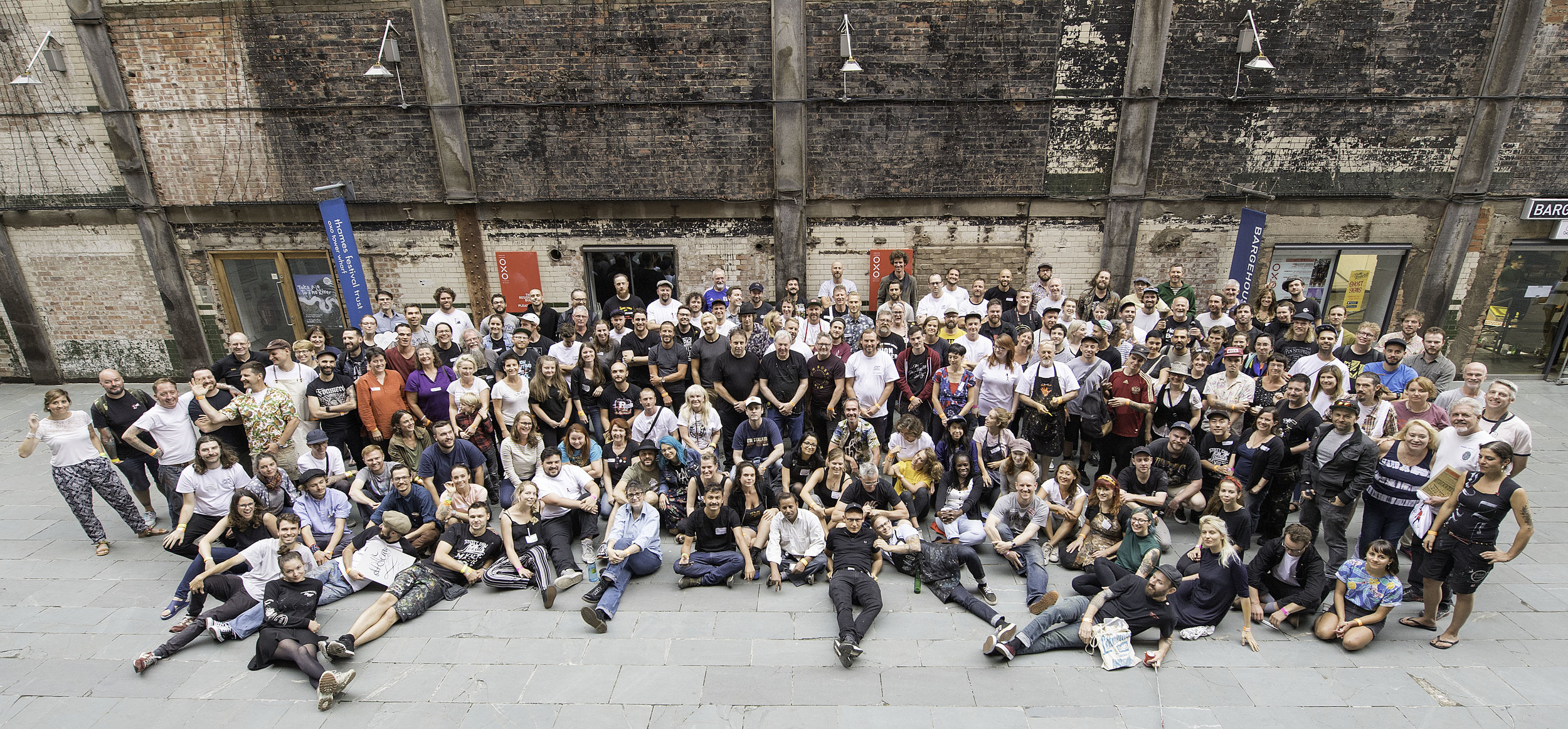 Group shot of the attendees from London Letterheads 2018. Photo by Colin Allen