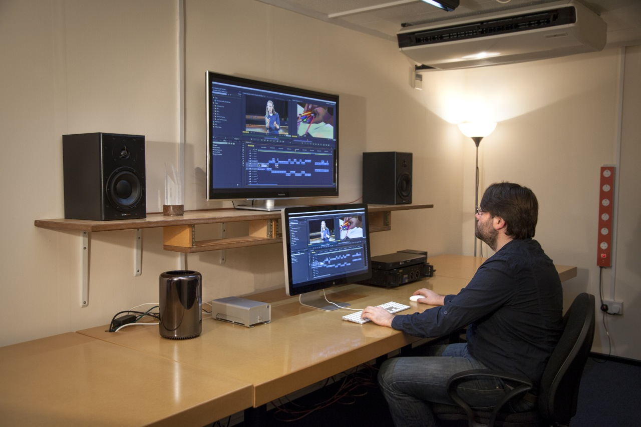 Rob Finlay Producer / Director in edit suite
