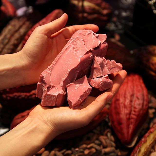 A completely new chocolate experience: Made from the Ruby cocoa bean.⁠ •⁠ •⁠ • ⁠ © Barry Callebaut⁠ #maisonmacolat #macolat #chocolatecoatedmacadamia #ruby #rubychocolate