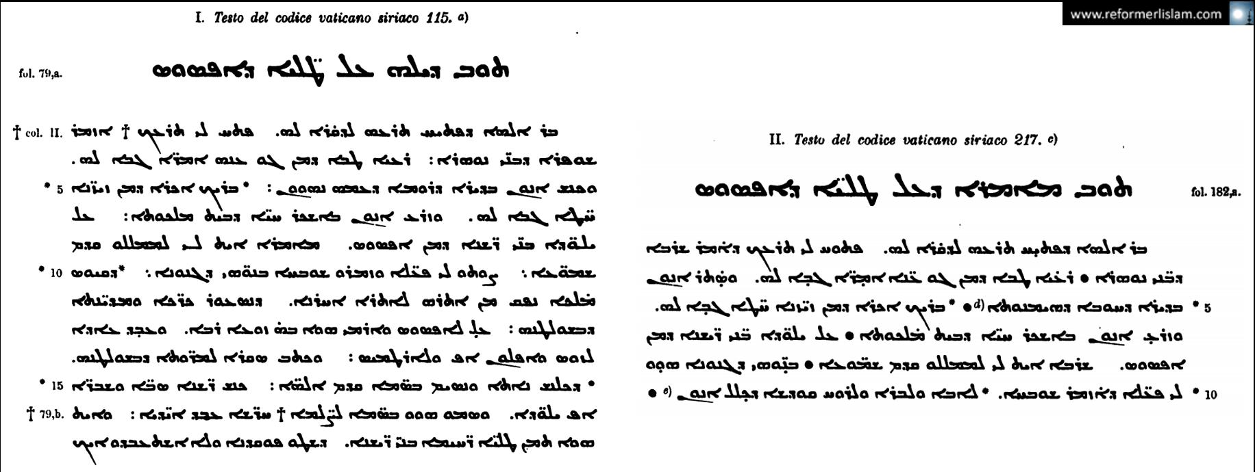 Le texte syriaque de l'histoire des Sept Dormants d'Éphèse écrit par Jacques de Saroug vers la fin du 5e siècle et conservé à la bibliothèque du Vatican