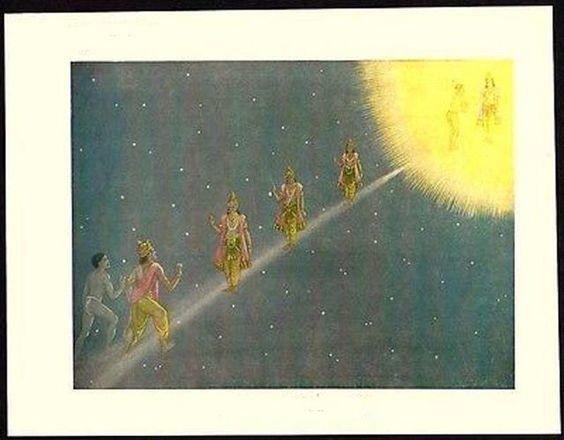 Illustration du Pont Cinvat chez les zoroastriens