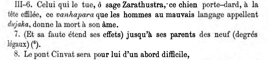Vendidad XIII; III 6-7-8 (P 137)