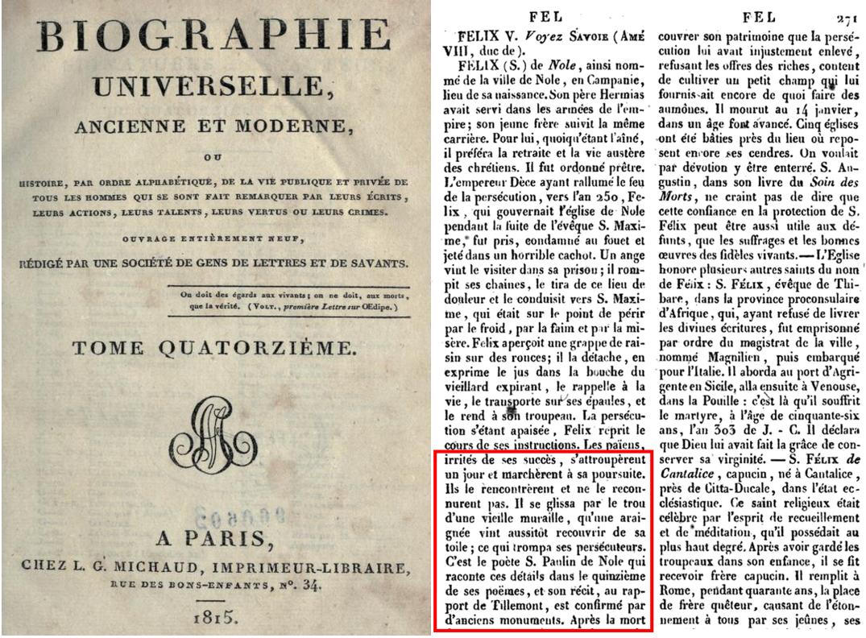 Biographie universelle, ancienne et moderne, ou histoire, par ..., Volume 14, p 271