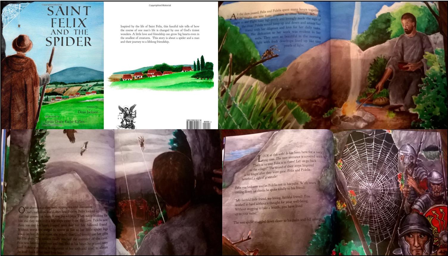 L'histoire de l'évêque saint Félix et de l'araignée en BD de Dessi Jackson (Auteur), Lydia Grace Kadar-Kallen (Illustrations)