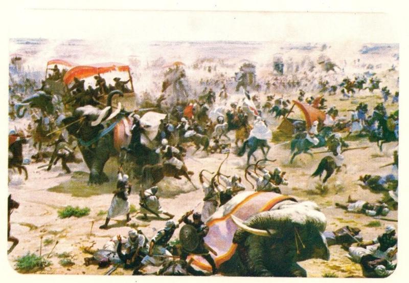 Reconstitution d'une bataille des musulmans contre les perses au 7e siècle