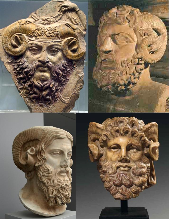 Le Dieu Ammon qui est le père d'Alexandre le Grand selon la légende de Pseudo Callisthène