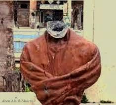 Statue d'Abu Aal Ala AL Maarri décapitée par des islamistes
