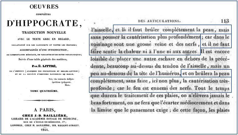 page 113 :Œuvres complètes d'Hippocrate: Traduction avec le texte grec