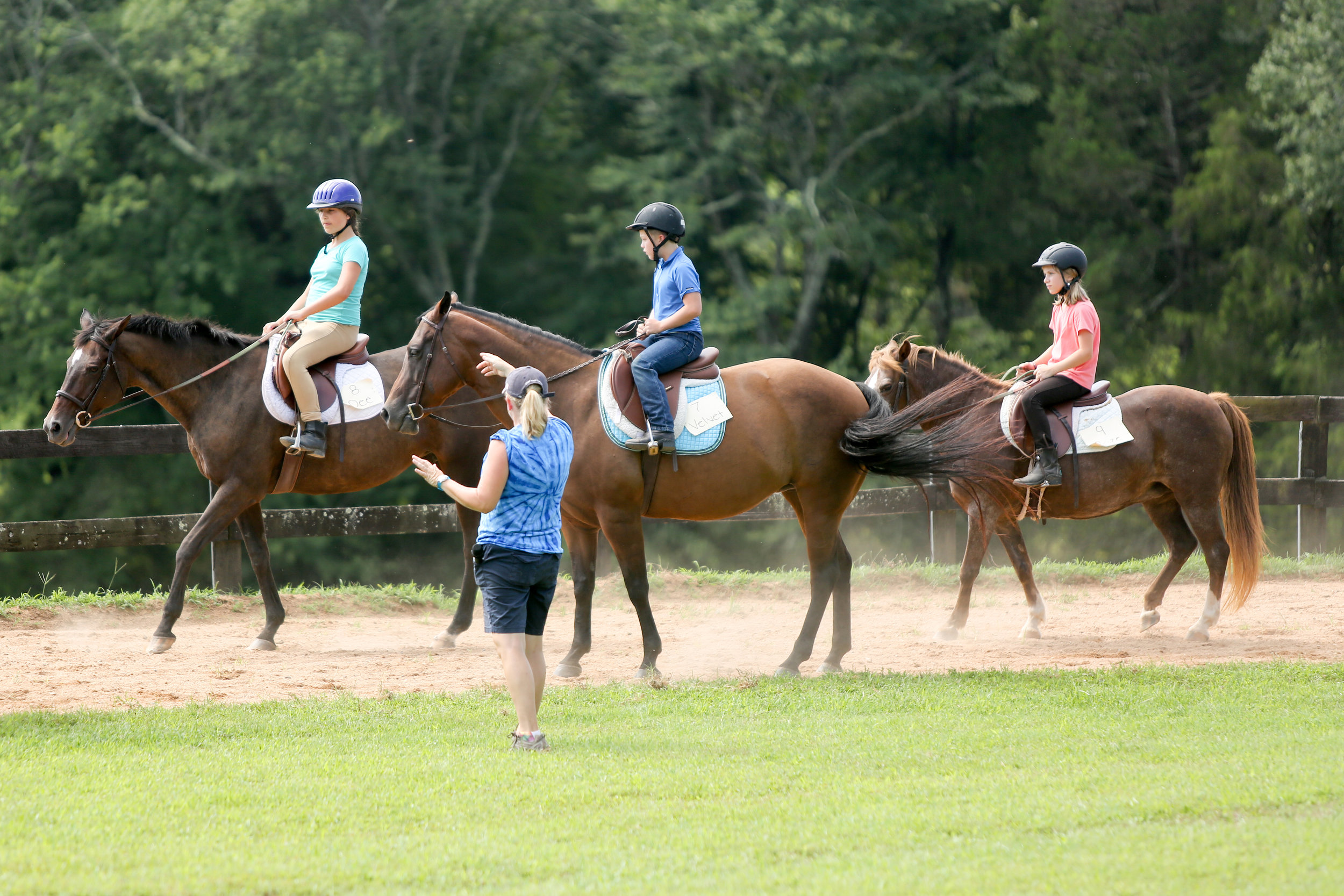 Oakland School students ride horses as part of their learning curriculum.