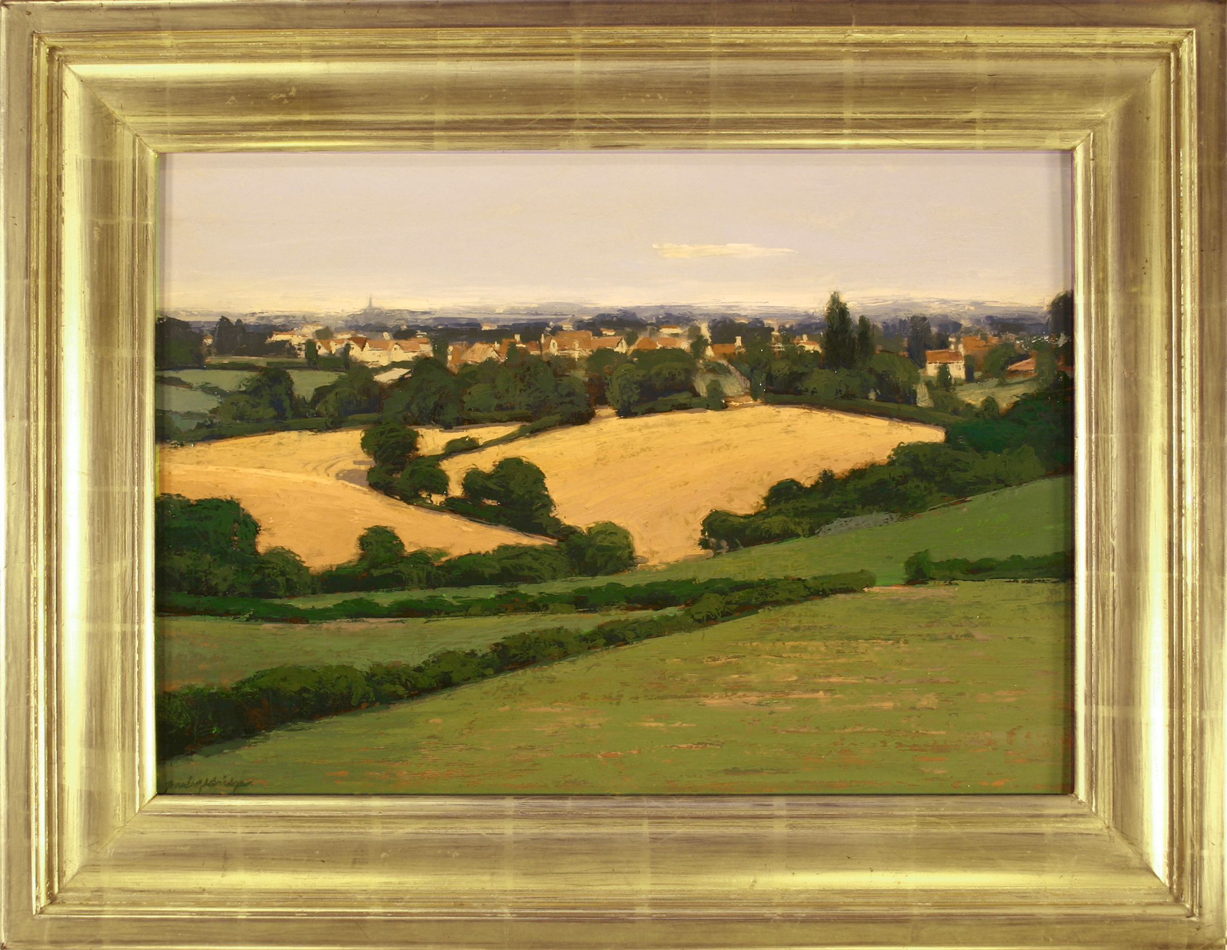 Countryside withVillage, 15.5 x 22.5, p, 22 x 28.5 f.jpg
