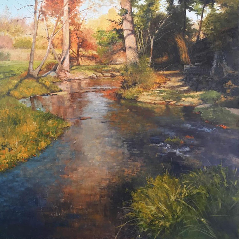 Walker, Steven S_Autumn's Creek_36x36_oilonpanel_$4600.jpg
