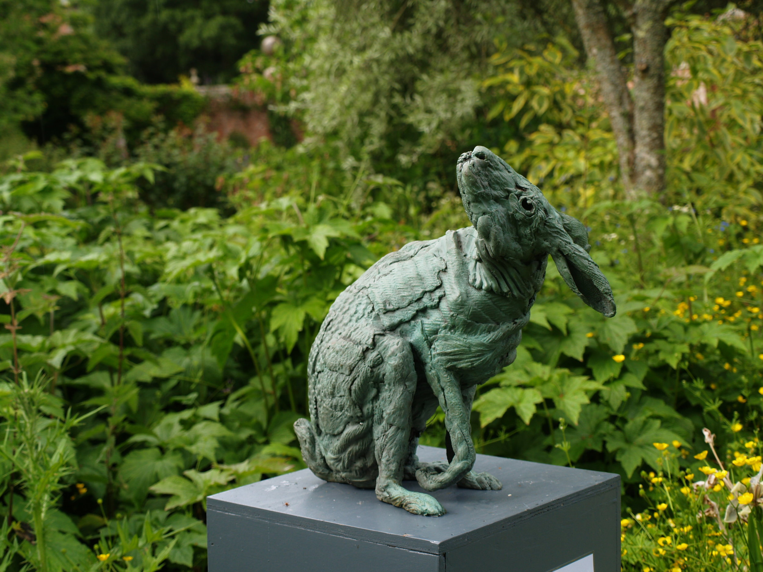 Hare after Ts'ui Po,  Marjan Wouda, Bronze, edition 3/9  2016, Size: 14 x 14 x 8, Price on Request (C6309MW)