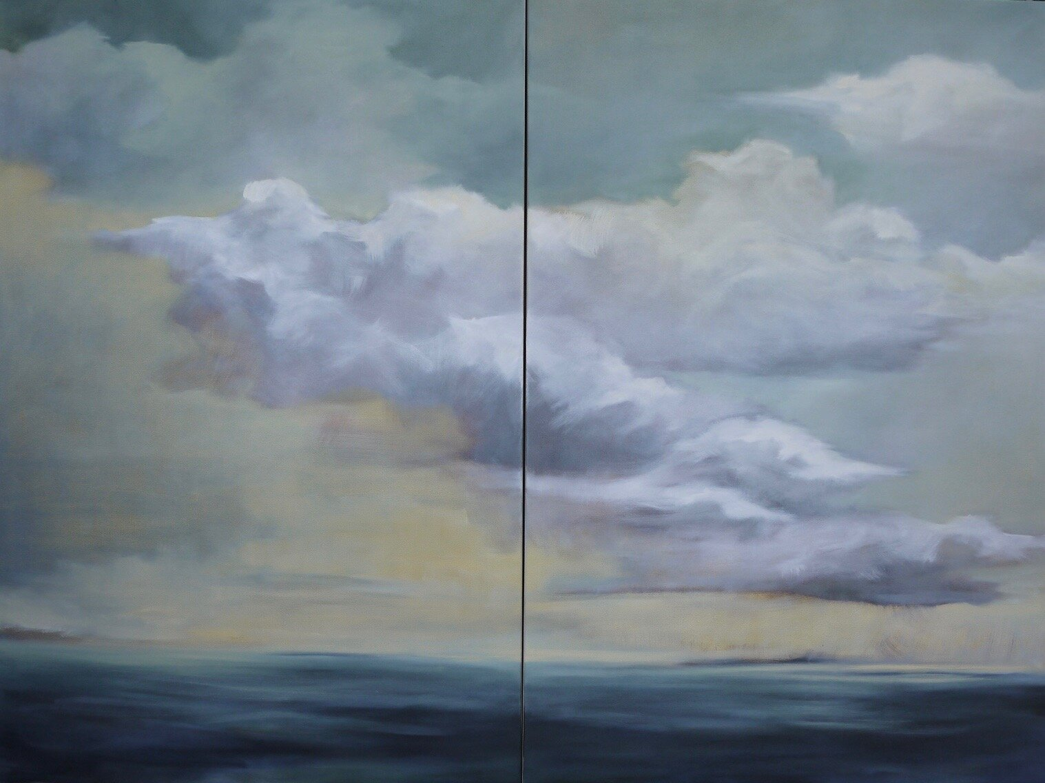 Large Sea (Diptych, 79x59)