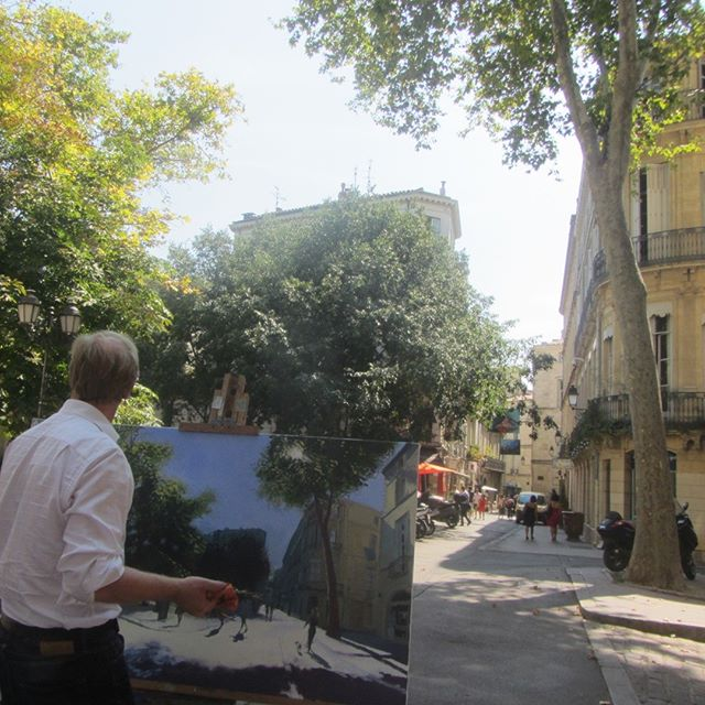 Nicest place to hang out in Montpellier, Place Canourgue  #painting #urbanlandscape #artbuyers #artbuyer #artcurator #artcurators #artwork #instalike #art #instagood #peoplelookingatart #artwatchers  #artlovers #oilpainting #instaart #contemporaryrealism #impressionism #oiloncanvas #artist #pleinair #pleinairpainting #britishart #montpellier #visitmontpellier #herault #hérault #southoffrance #france #plaisirsdherault
