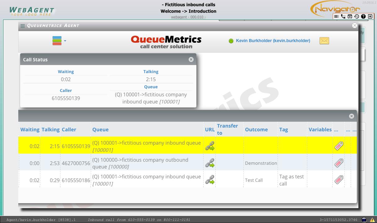 QueueMetrics Agent Status