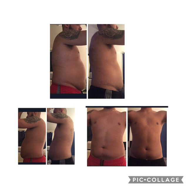 Lost 17 lbs in first 8 weeks including 4.5 inches from his waist!