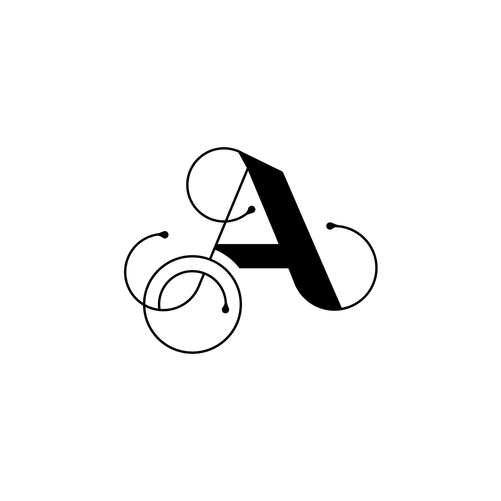 'A' monogram   Wedding monogram